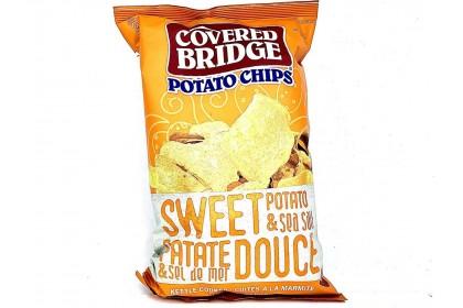 Covered Bridge Potato Chips   Sweet Potato & Sea Salt   142 G