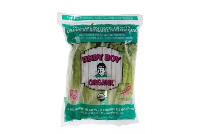 Organic Romain in the bag