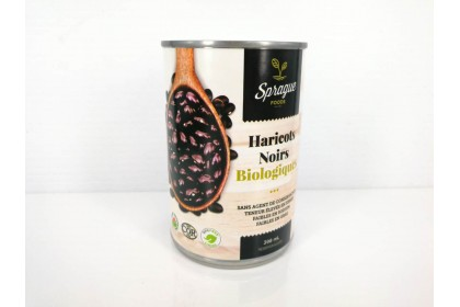 BLACK BEANS ORGANIC   398 ML    Sprague foods