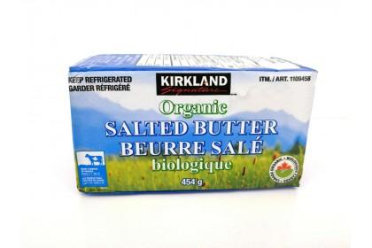 BUTTER SALTED ORGANIC 454 G  KIRKLAND