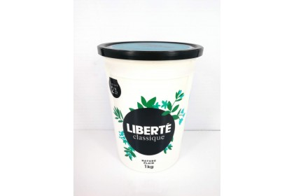 yogourt  2 %  nature plain  1  kg   liberte