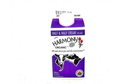 Harmony 10% Half & Half Cream Carton 500ml