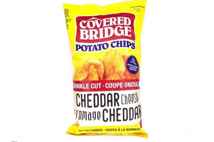 Covered Bridge Potato Chips   Cheddar Cheese  170 G