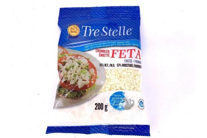 Trestelle Feta Light 25% Crumbled 200g