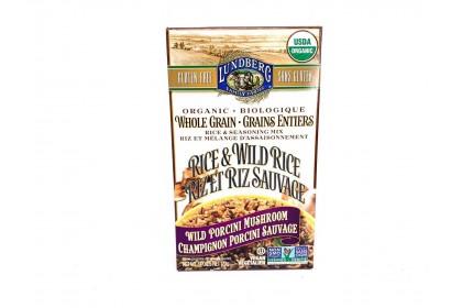 Lundberg Organic Whole Grain Wild Porcini Mushroom Rice 170g - Vegan
