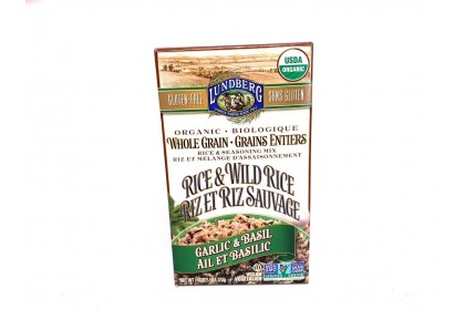 Lundberg Organic Whole Grain Garlic & Basil Rice 170g - Vegan