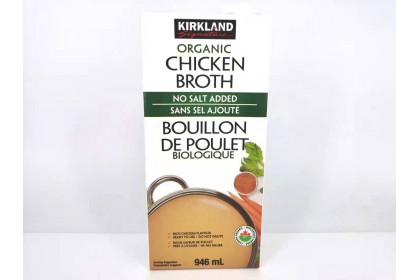 Chicken Broth Kirkland organic 946 ml