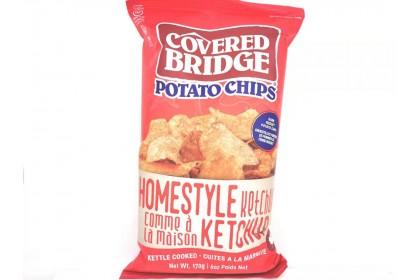 Covered Bridge Potato Chips Homestyle ketchup   170 G