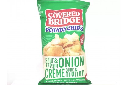 Covered Bridge Potato Chips   Sour Cream & Onion  170 G