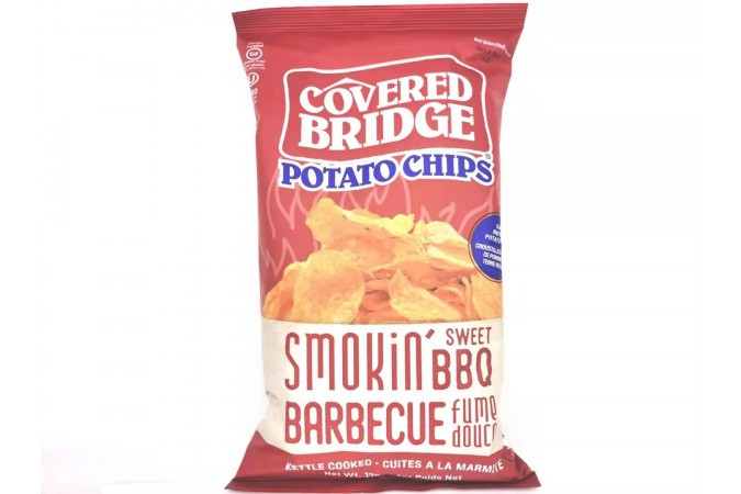 Covered Bridge Potato Chips   Smokin Sweet BBQ  170 G