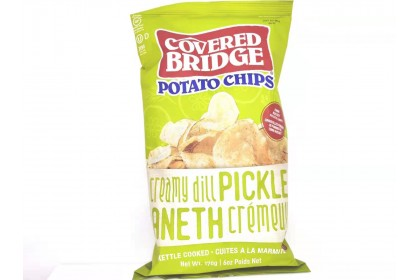 Covered Bridge Potato Chips   Creamy Dill Pickle   170 G