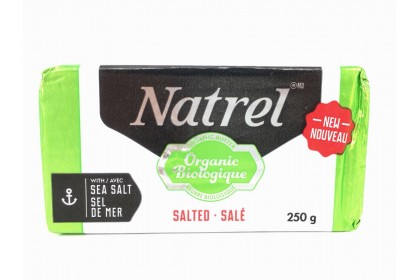 Butter Natrel Salted  Organic 250 G