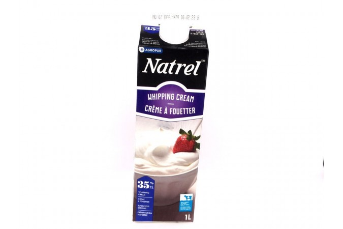cream Natrel 35% whipping  1L