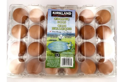 Eggs Kirkland Organic  Brown  (24 eggs)