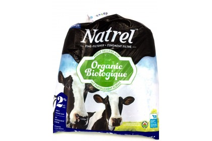 Milk bag 4L Natrel 2% Partly Skimmed Milk Organic