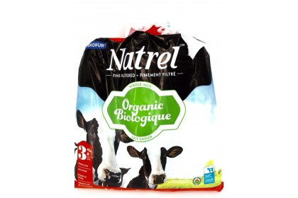 Milk bag 4L Natrel 3.8% Whole Milk  Organic